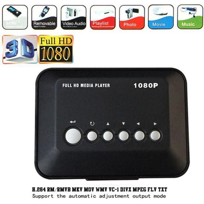 HD 1080P Disque dur USB Lecteur multimédia multi-média MKV AVI RMVB Nouvelle prise européenne