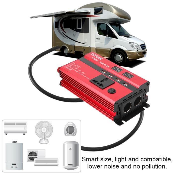 Convertisseur d'énergie solaire voiture d'inverseur puissance élevée DC12 - 24V à CA 220V (24V à 220V, 3000W)-LAT