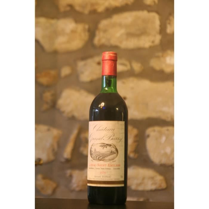 Lussac St Emilion,rouge,Château Grand Barry 1979 Rouge