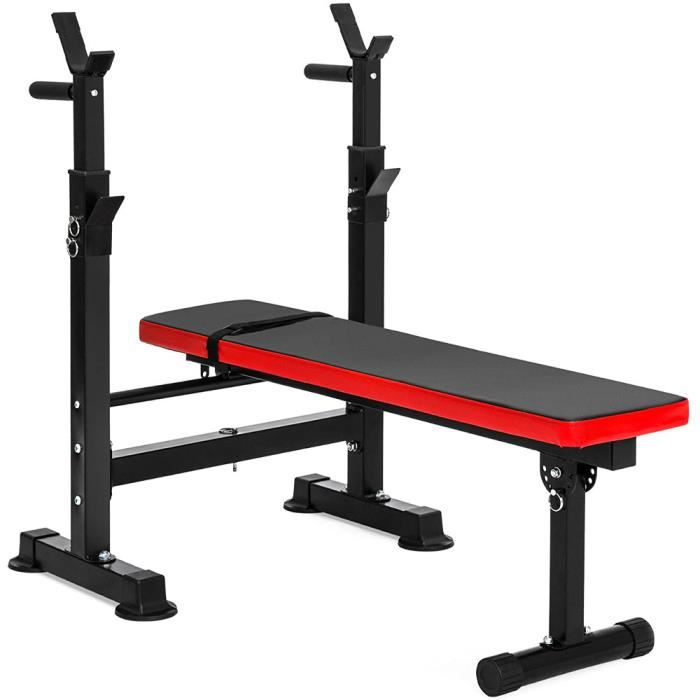 Camio Adjustable Weight Bench with Dip Station Folding Heavy Duty Weight Lifting Bench Home Training Gym Multiuse Workout Bench