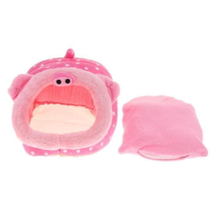 Petit animal de compagnie Sommeil Lit Hamster Lit Hamac Chaud Cave House Pig L