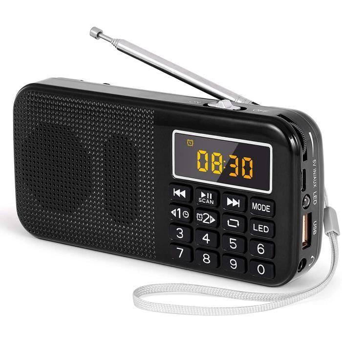 RADIO CD - RADIO CASSETTE - FM PRUNUS J-725 Radio Portable, Radio FM avec Batterie Rechargeable de Grande Capacité (3000m267