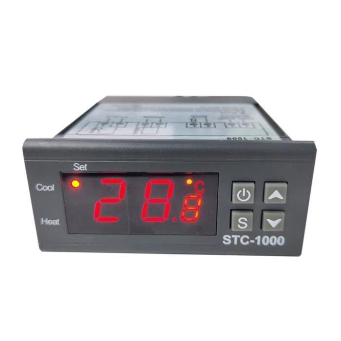 Chauffage,Stc 1000 220V réfrigérateur numérique LED affichage Thermostat régulateur de température Module de - Type black orange