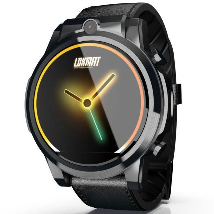 Nouvelle montre intelligente 4G hommes Android 7.1 MTK6739 3GB + 32GB écran AMOLED 610mAh batterie GPS Smartwatch pour ios