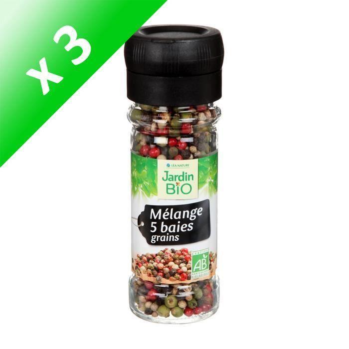 [LOT DE 3] JARDIN BIO Mélange de 5 baies bio - 35 g