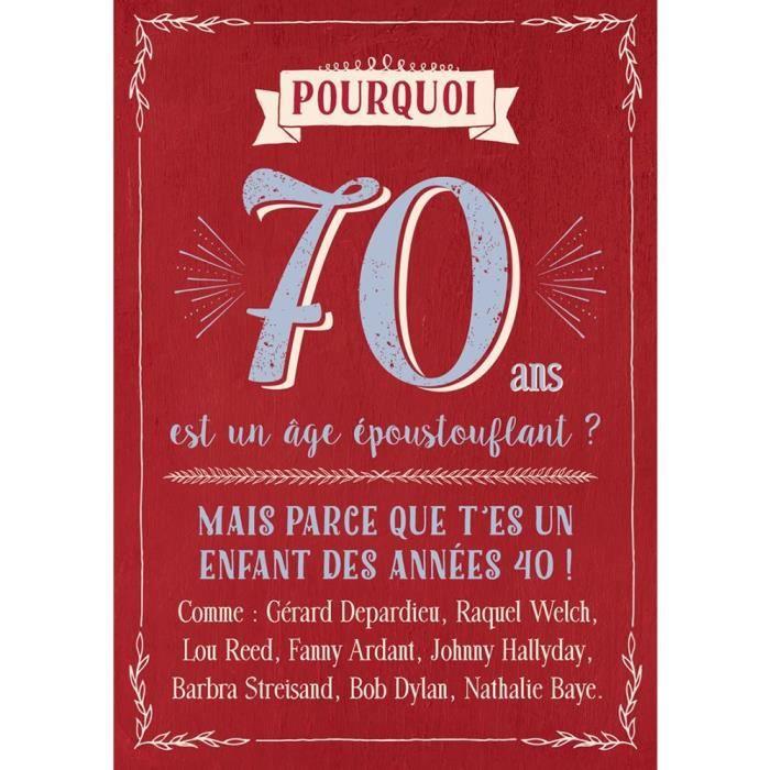 Carte Anniversaire 70 Ans - Cadeau Maestro