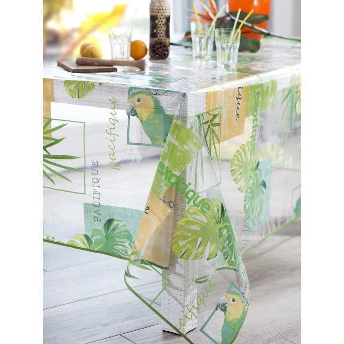 CALITEX PERROQUET Nappe translucide rectangulaire Vert 140 X 250 cm