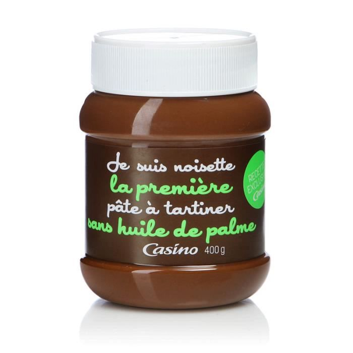 Pâte à tartiner Noisette - Sans Huile de palme - 400g
