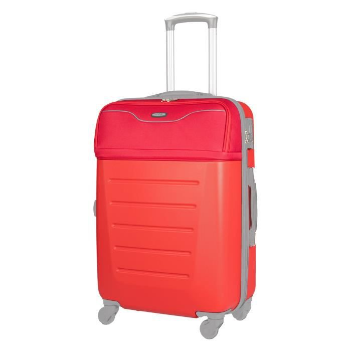 CDB Valise cabine low cost 4 roues 48 cm 70% ABS 30% polyester 600D Rouge