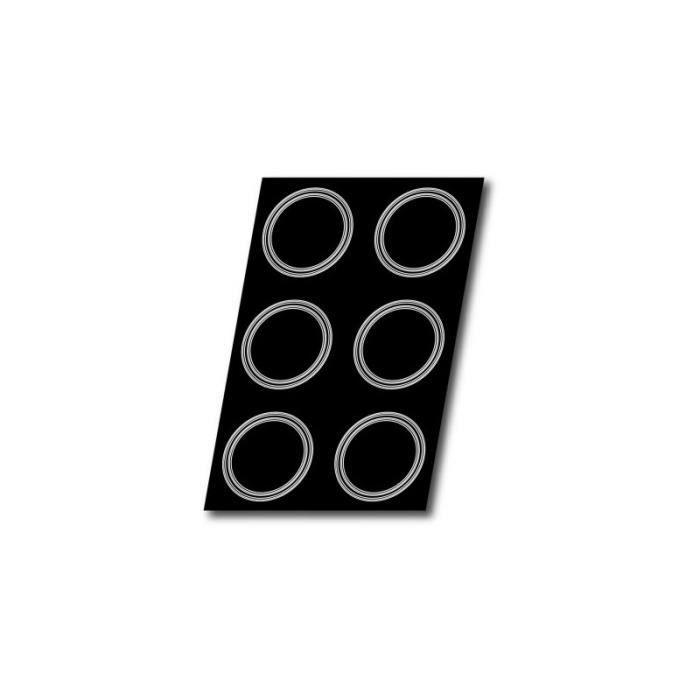 MOULE A GATEAU SILICONE FLEXIPAN INSERT 2 ETAGES PLAQUE 600X400MM EMPREINTES DIAMETRE 160X28MM