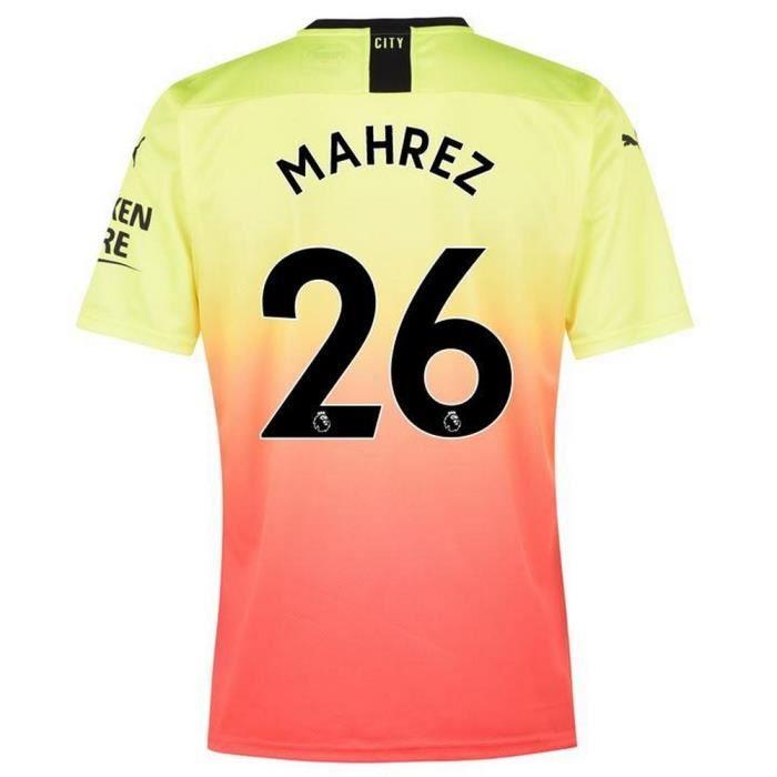 Nouveau Maillot Puma Homme Manchester City Third Flocage Officiel Mahrez Numéro 26 Saison 2019-2020