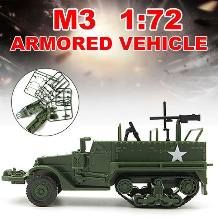 Modèle d'assemblage 1:72 M3 Half Track Véhicule blindé modèle militaire modèle jouet voiture