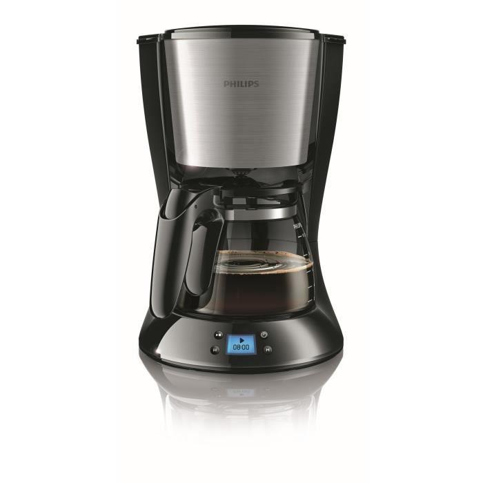 Cafetière Filtre PHILIPS Daily HD7459/20 - Noire et métal