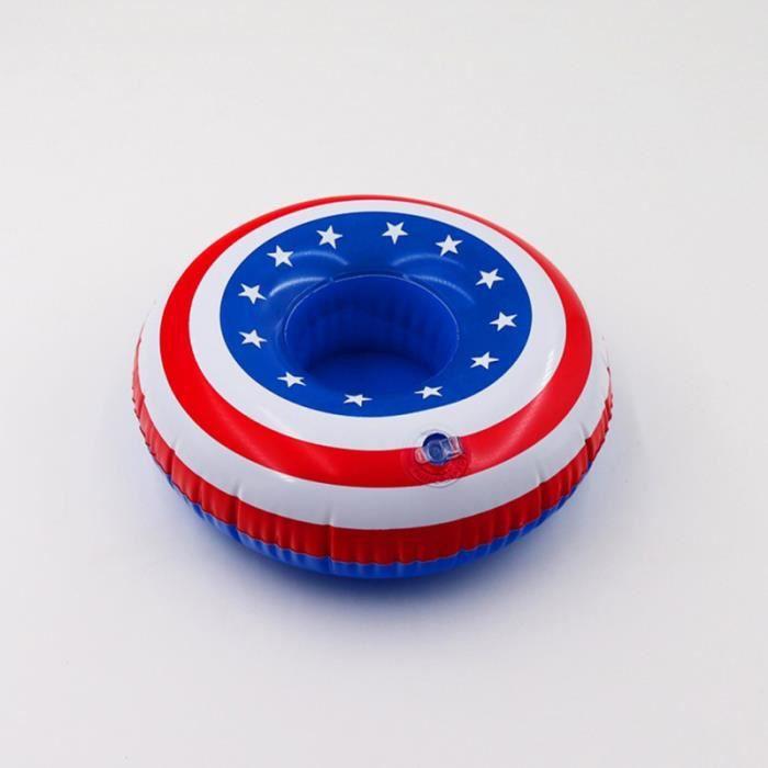 Creative Flottant Drapeau Américain Air Inflation Plate Boisson Vaisselle Coupe Coaster Napperon Pad PLANCHE A DECOUPER