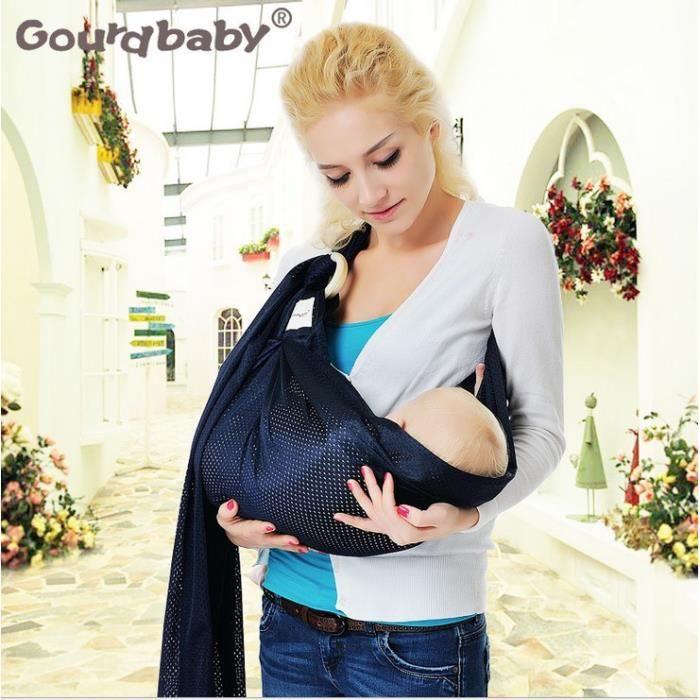 Echarpe de portage bébé ous enfant coton boucle double boucle Sling respirante