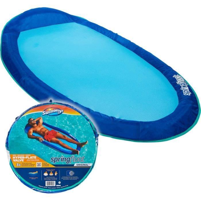 SWIMWAYS - SPRING FLOAT ORIGINAL NEW VALVE - bouée gonflable et tissu - matelas de piscine transportable - Modèle Aléatoire