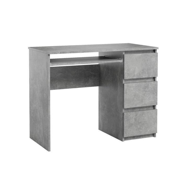 Bureau d'ordinateur. Bureau très élégant avec des tiroirs. Bureau informatique HEINI gris