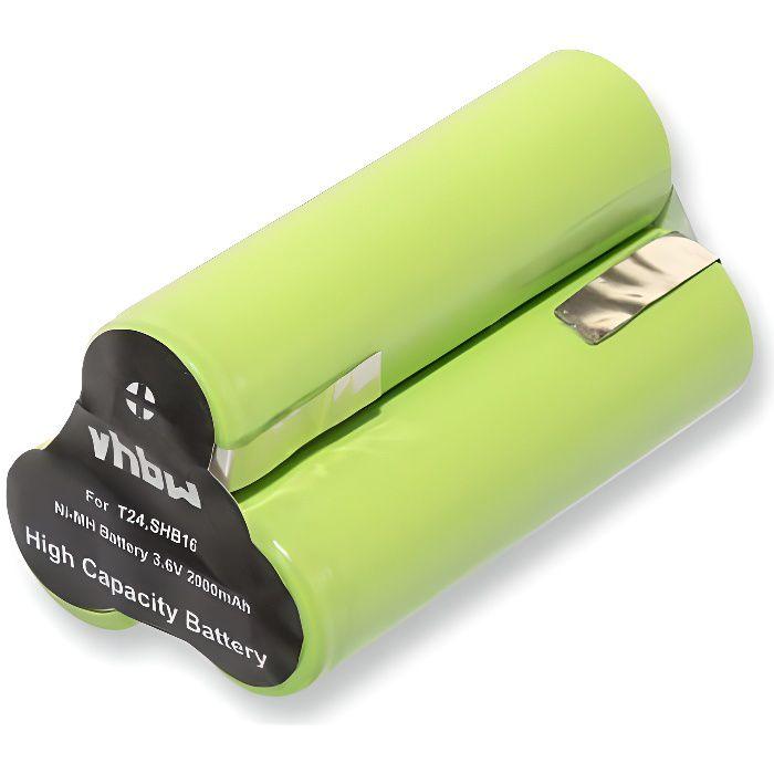vhbw NiMH batterie 2000mAh pour rasoir tondeuse à cheveux BaByliss T24, T24B, T24C