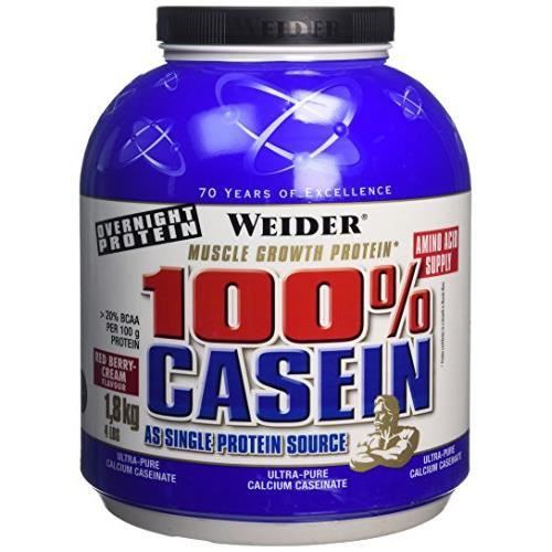 WEIDER Boîte de Day & Night Casein Fruits Rouges 1.8kg