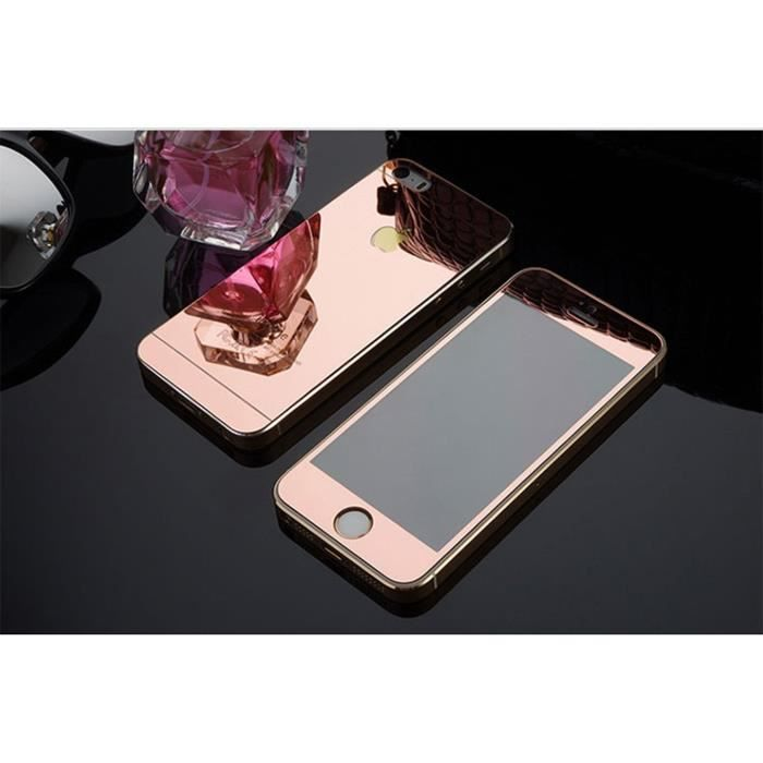 Aibeier iphone 5 5s se miroir tremp de front back du for Film protecteur effet miroir