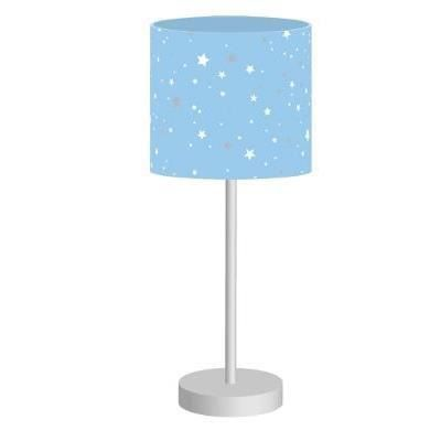 lampe de chevet abat jour couleur bleu toil achat. Black Bedroom Furniture Sets. Home Design Ideas