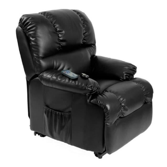 fauteuil siege electrique leve personne releveur massant vibrant chauffant hightechnology. Black Bedroom Furniture Sets. Home Design Ideas