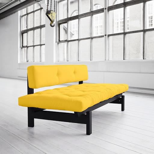 banquette futon canap 3 places divan lit achat vente canap sofa divan cdiscount. Black Bedroom Furniture Sets. Home Design Ideas
