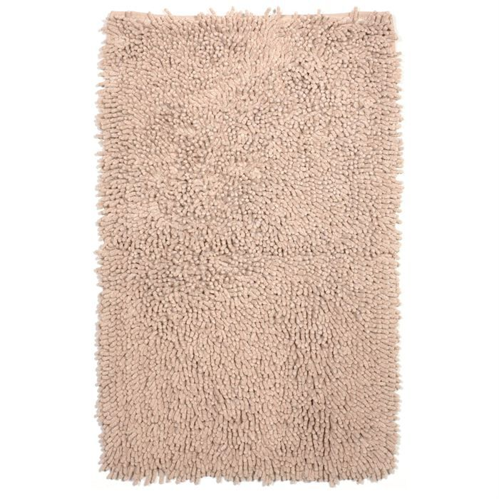 tapis de bain coton beige 60x90cm achat vente tapis de bain cdiscount. Black Bedroom Furniture Sets. Home Design Ideas