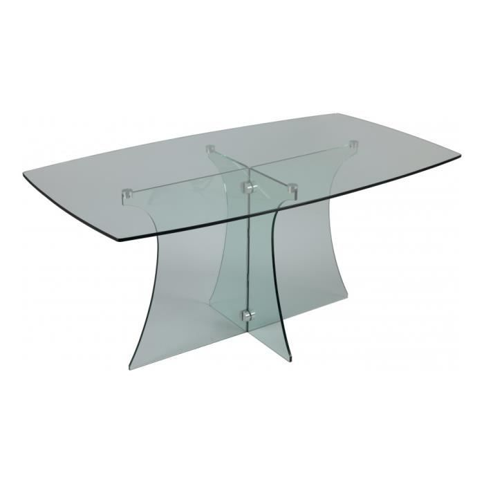 Table De Sejour Verre Rectangulaire Courbee L160