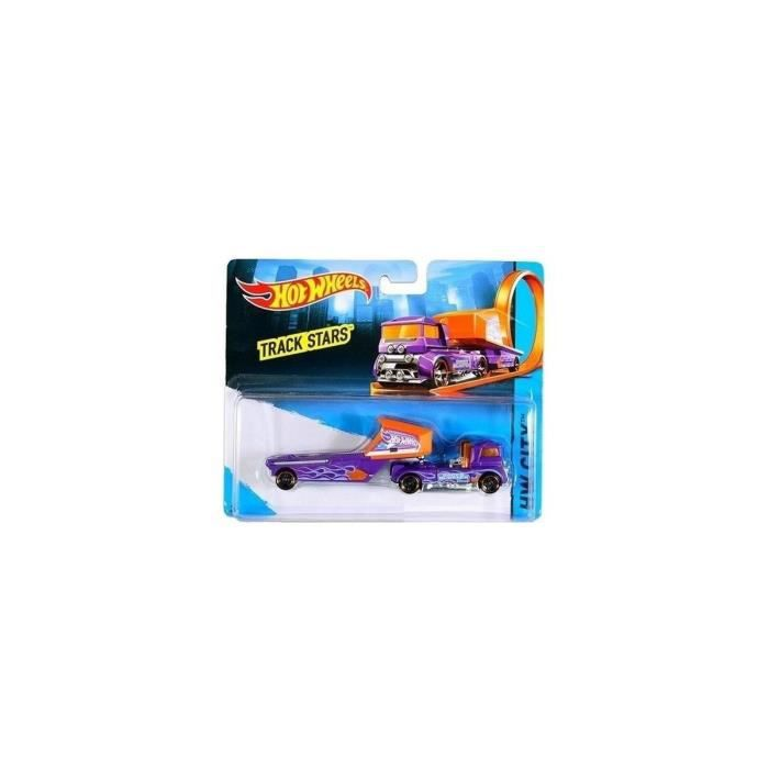 Hot Wheels Speed Blaster - Camion Orange et Violet Track