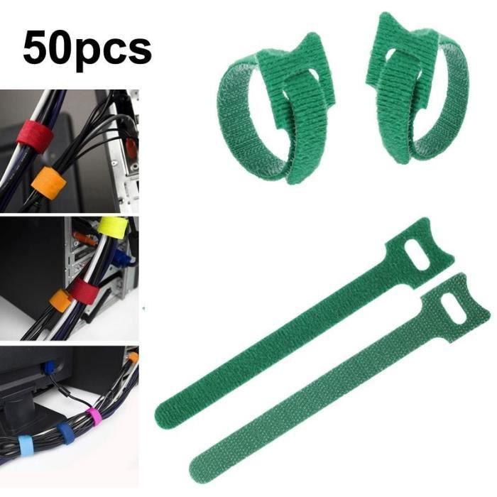 UGREEN 5M Attache C/âble Sangle Serre C/âble Boucles et Crochets R/éutilisable pour Ranger et Organiser C/âble TV PC Electrique