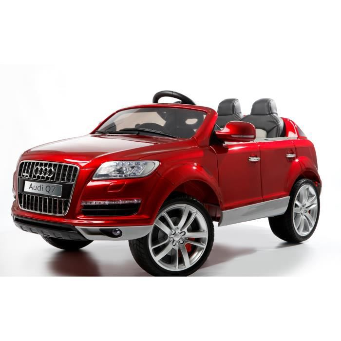 audi q7 luxe rouge m tallis e voiture lectrique enfant 12v 2 moteurs achat vente. Black Bedroom Furniture Sets. Home Design Ideas