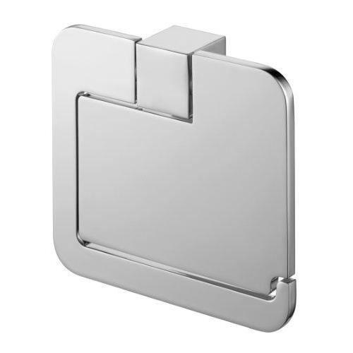 13,2 x 12,7 x 12,7 cm thermoplastique transparent et blanc koziol d/évidoir papier WC Miaou