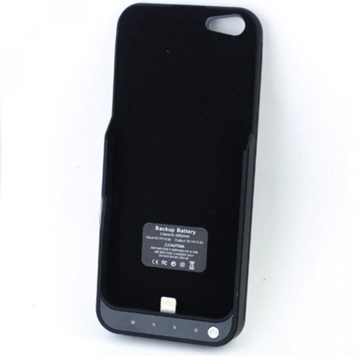 coque batterie 2000 mah noire pour iphone 5 achat. Black Bedroom Furniture Sets. Home Design Ideas