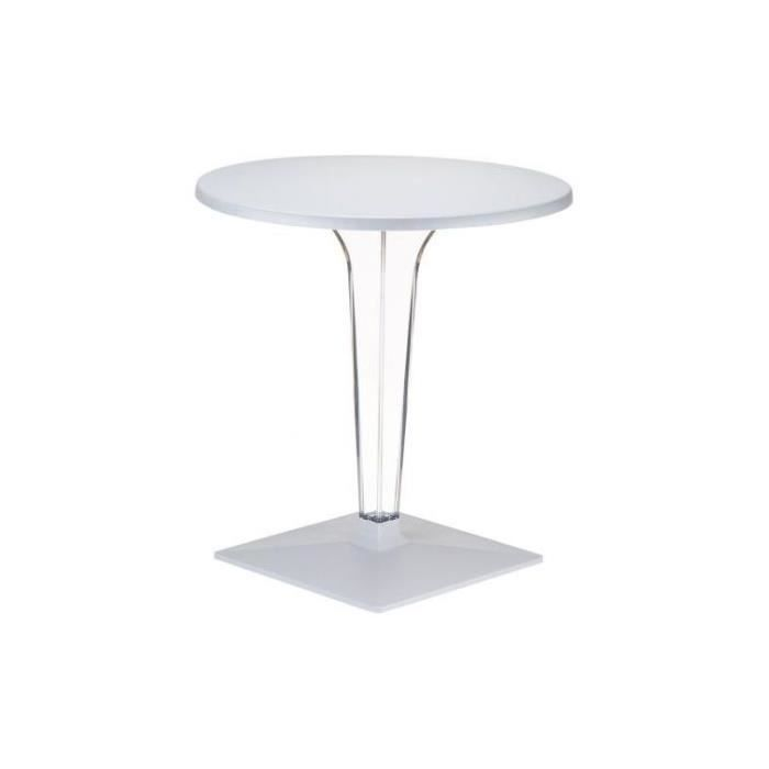 Table design grise argent isis achat vente table d - Table design grise ...