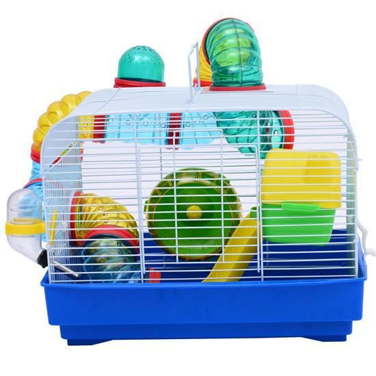 maison cage hamster rat souris en acier 33x23x24cm achat vente cage maison cage hamster rat. Black Bedroom Furniture Sets. Home Design Ideas