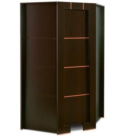 armoire dressing d angle 1 porte moderne wenge sans. Black Bedroom Furniture Sets. Home Design Ideas