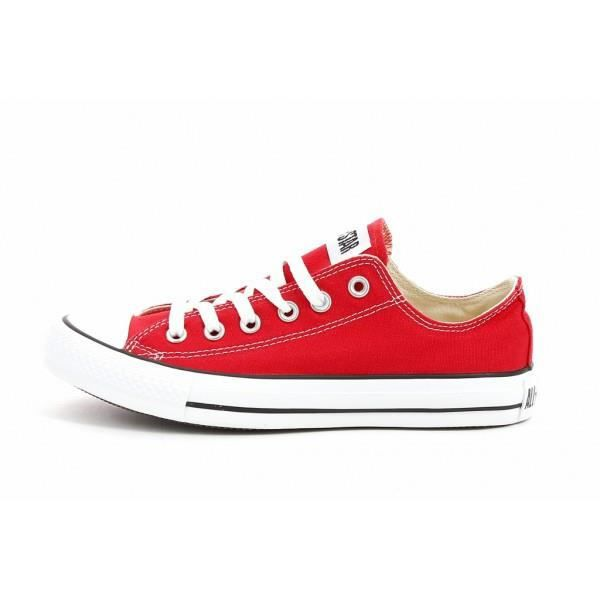 chaussure converse rouge femme