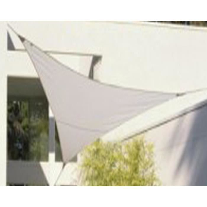 voile d 39 ombrage triangulaire blanc en polyester 200g m anti uv 500 cm x 500 cm x 500 cm avec. Black Bedroom Furniture Sets. Home Design Ideas
