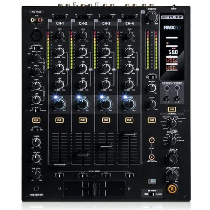 tables de mixage d j reloop rmx 60 digital table de mixage avis et prix pas cher les. Black Bedroom Furniture Sets. Home Design Ideas