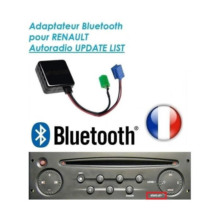 cable aux auxiliaire bluetooth autoradio renault udapte list clio scenic trafic skyexpert. Black Bedroom Furniture Sets. Home Design Ideas