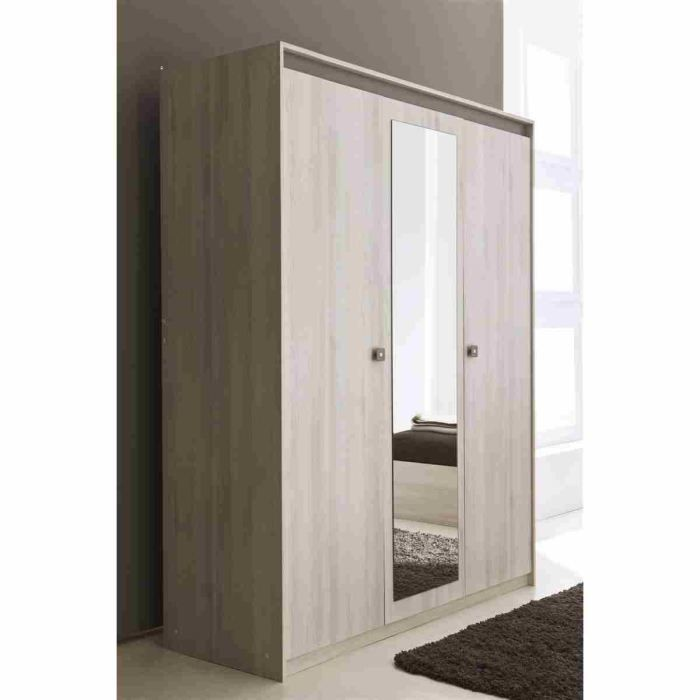 francesca armoire 3 portes miroir achat vente armoire de chambre francesca armoire 3. Black Bedroom Furniture Sets. Home Design Ideas