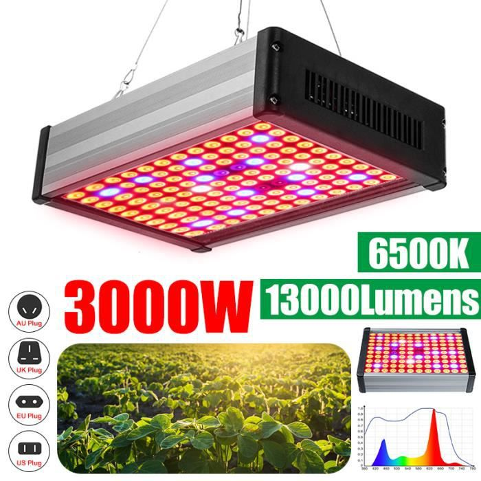 Full Spectrum 135 W DEL lumière Panneau Grow Light Pour Jardin Intérieur Plante Avec UV