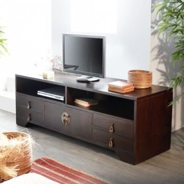 meuble tv en acajou 150 multim dia yong achat vente meuble tv meuble tv en acajou cdiscount. Black Bedroom Furniture Sets. Home Design Ideas