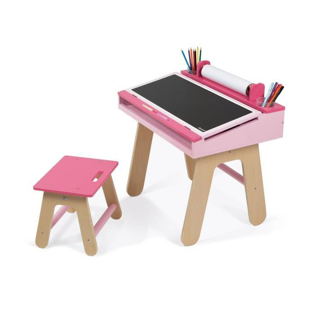 tosca kid bureau d 39 colier en bois rose pour enfant achat vente bureau b b enfant les. Black Bedroom Furniture Sets. Home Design Ideas