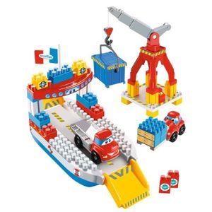 Ecoiffier Abrick Conteneur bateau avec chariot élévateur navire bateau jouet enfants