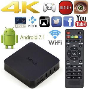 BOX MULTIMEDIA Android TV Box MXQ 7.1 s905W Quad Core eMMC 8Go Wi