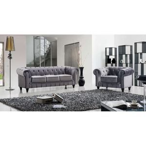canape velour noir achat vente canape velour noir pas cher cdiscount. Black Bedroom Furniture Sets. Home Design Ideas