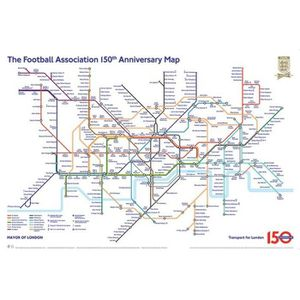 AFFICHE - POSTER The Tube London Football - Metro Londres - 61x91,5