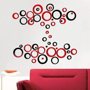 50PCS Miroir Sticker Rond 2 Sets Sticker Muraux Cercle Miroir Autocollant Mural Acrylique Motif de Rond pour Maison Chambre Salon D/écoration dInt/érieur